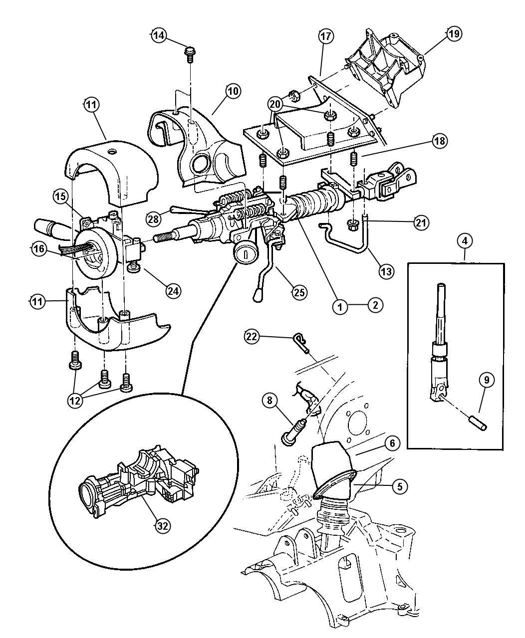 Chrysler Voyager Lever  Gearshift