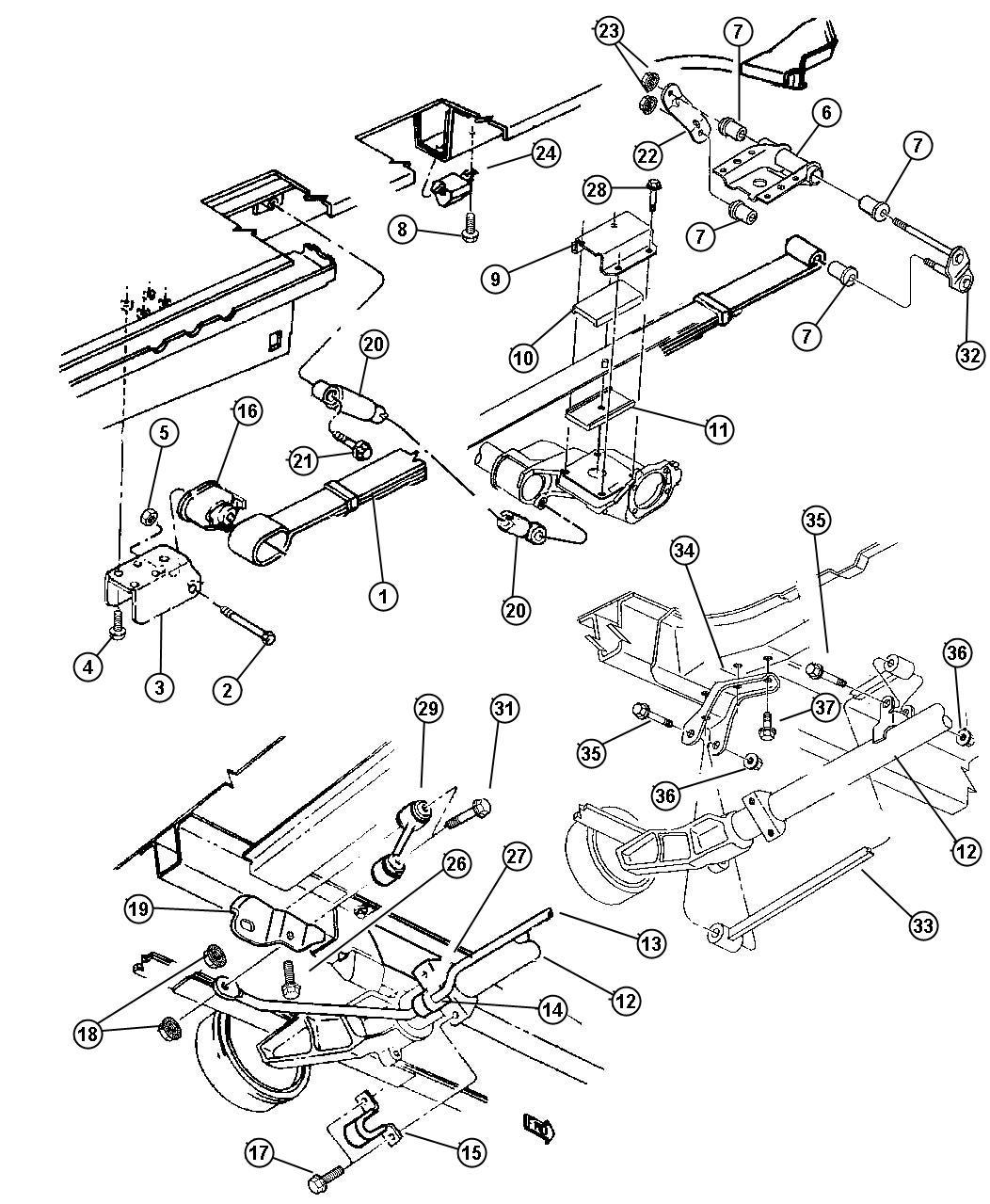 Chrysler Voyager Isolator  Spring  Lower  Suspension  Rear