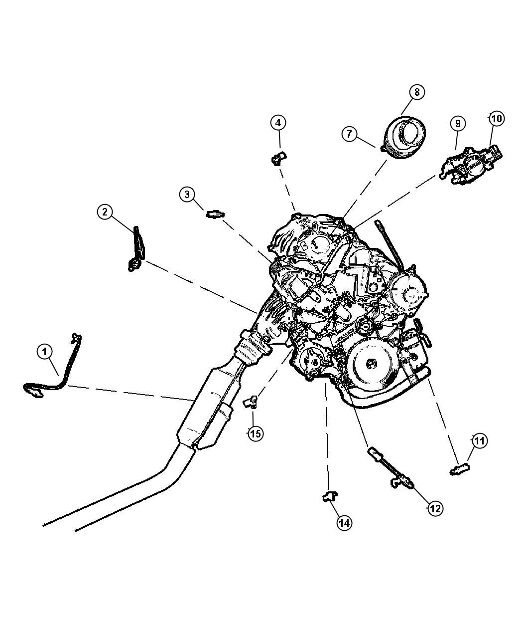 2003 Chrysler Voyager Sensor  Coolant Temperature