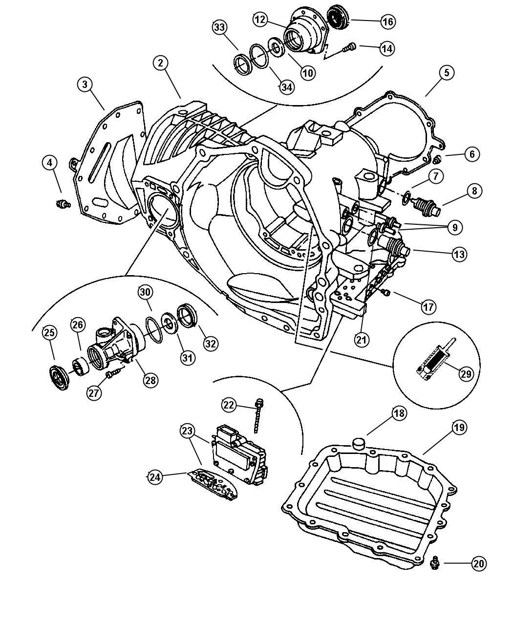 Chrysler Town  U0026 Country Solenoid Module  Solenoid Package  41te Transaxle  Transmission  Valve