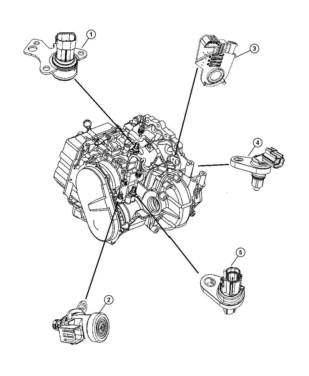 2008 Chrysler Pacifica Sensor Trans variable force