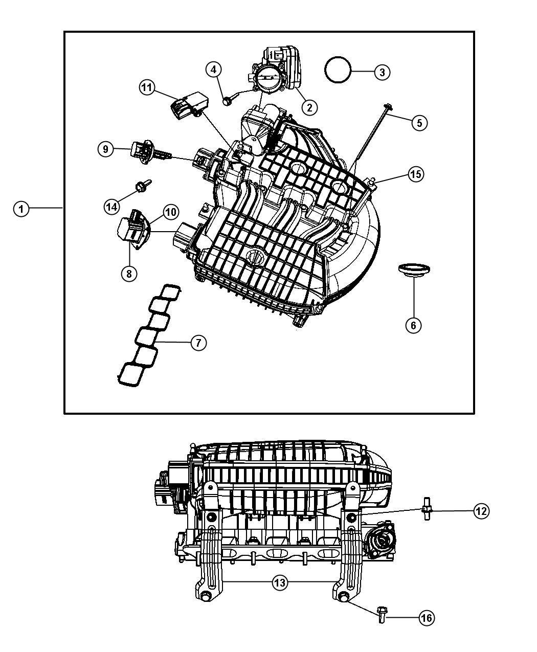 04593676ac Chrysler Actuator Intake Short Running Valve
