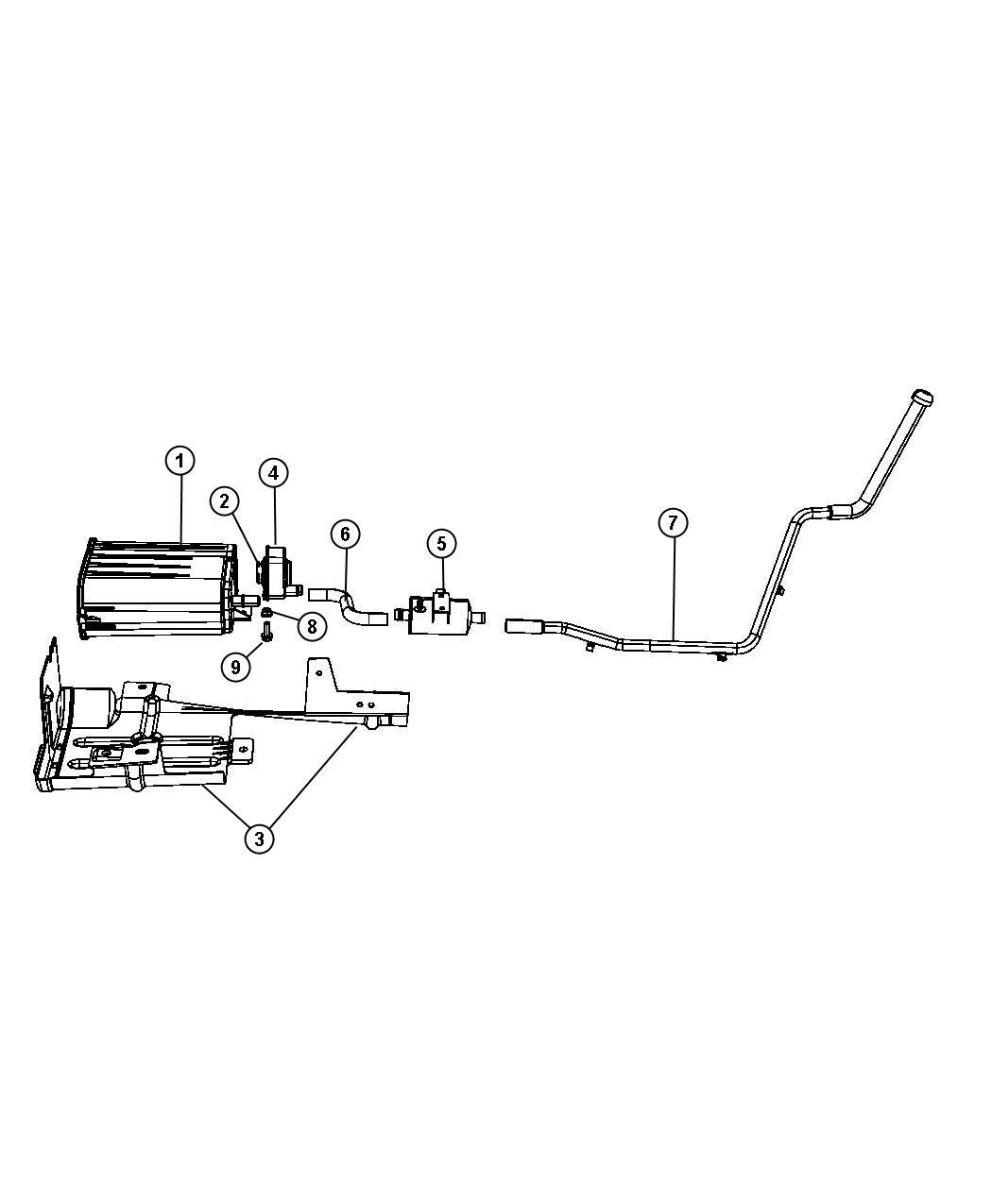 Chrysler Pacifica Hose  Nvld Filter  Vacuum  Pump