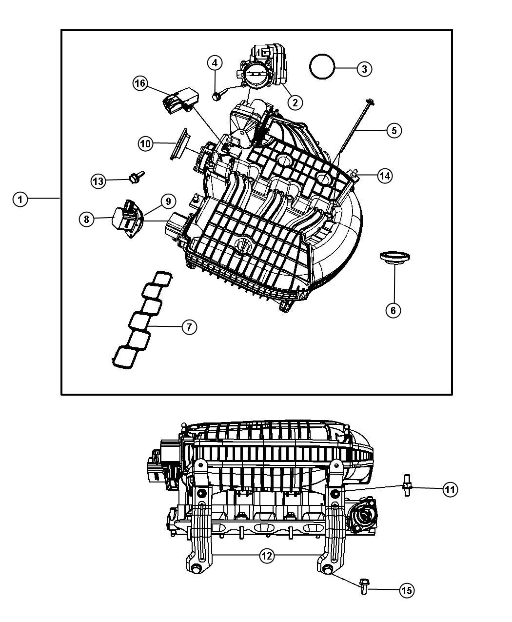 I on 2004 Chrysler Pacifica Manifold Diagram