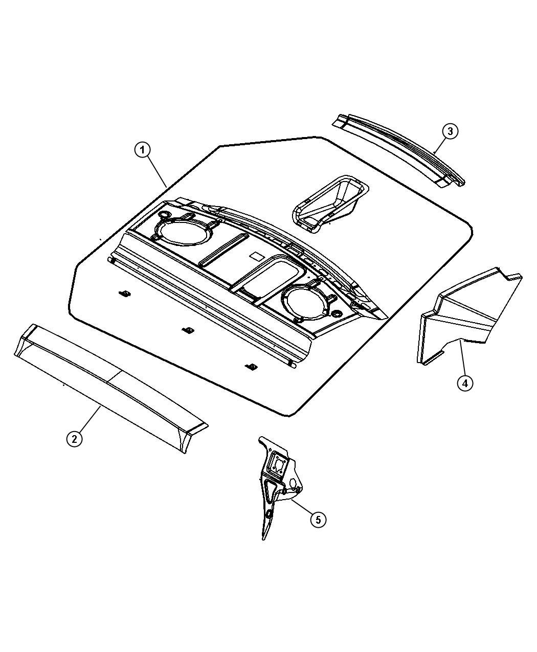 2010 chrysler sebring panel  shelf  rear  body