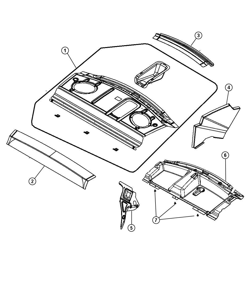 2010 Chrysler Sebring Panel Shelf Rear Body 05008827ae Chrysler Parts Overstock Lakeland Fl