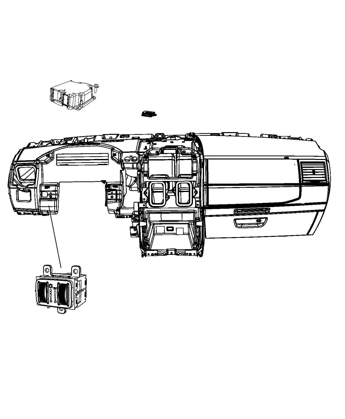 Chrysler Town  U0026 Country Module  Lighting Control  Rail