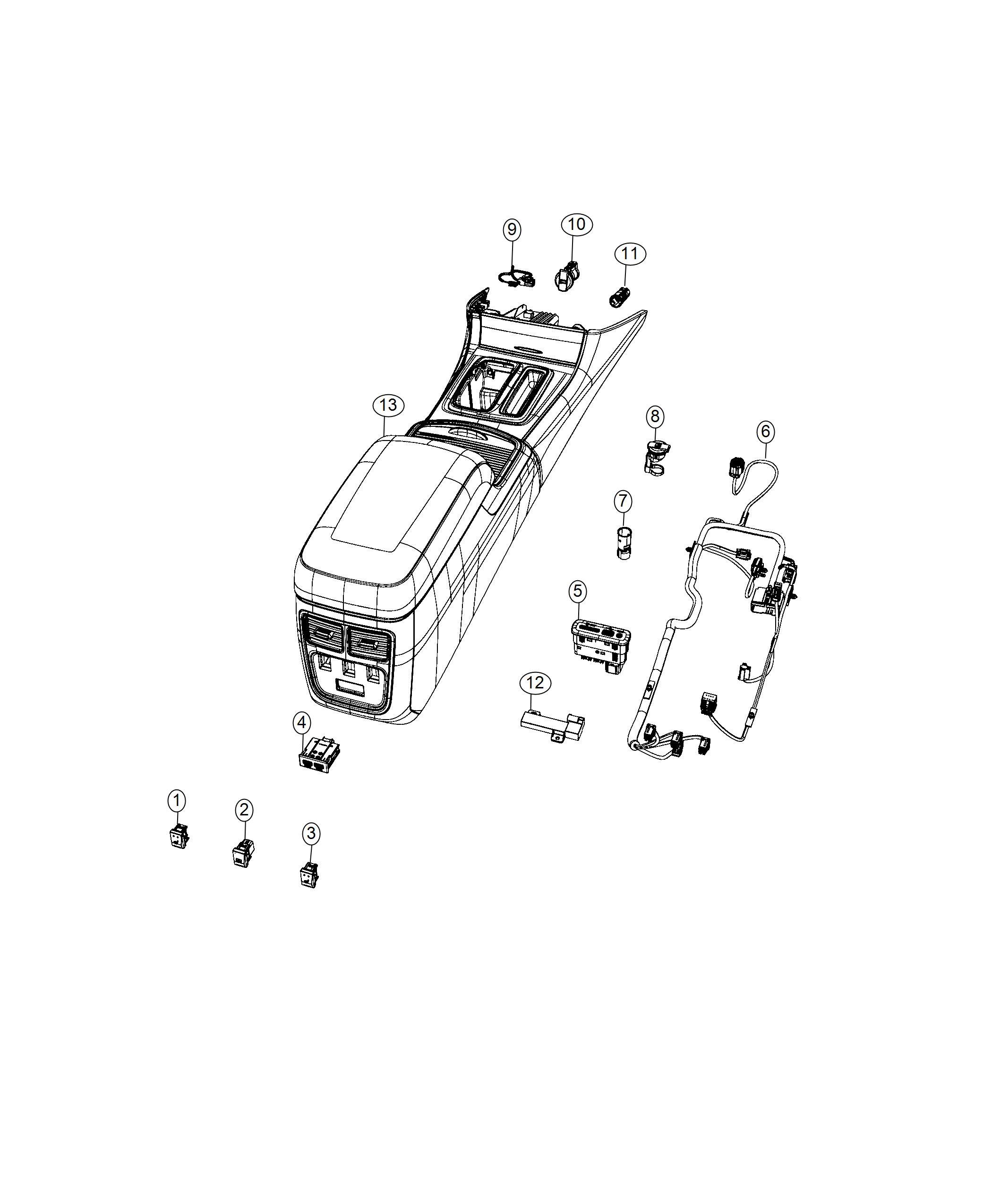 Chrysler 300 Media Center  Reflector  Usb Port  Hub  Media Hub  Sd Usb Charging