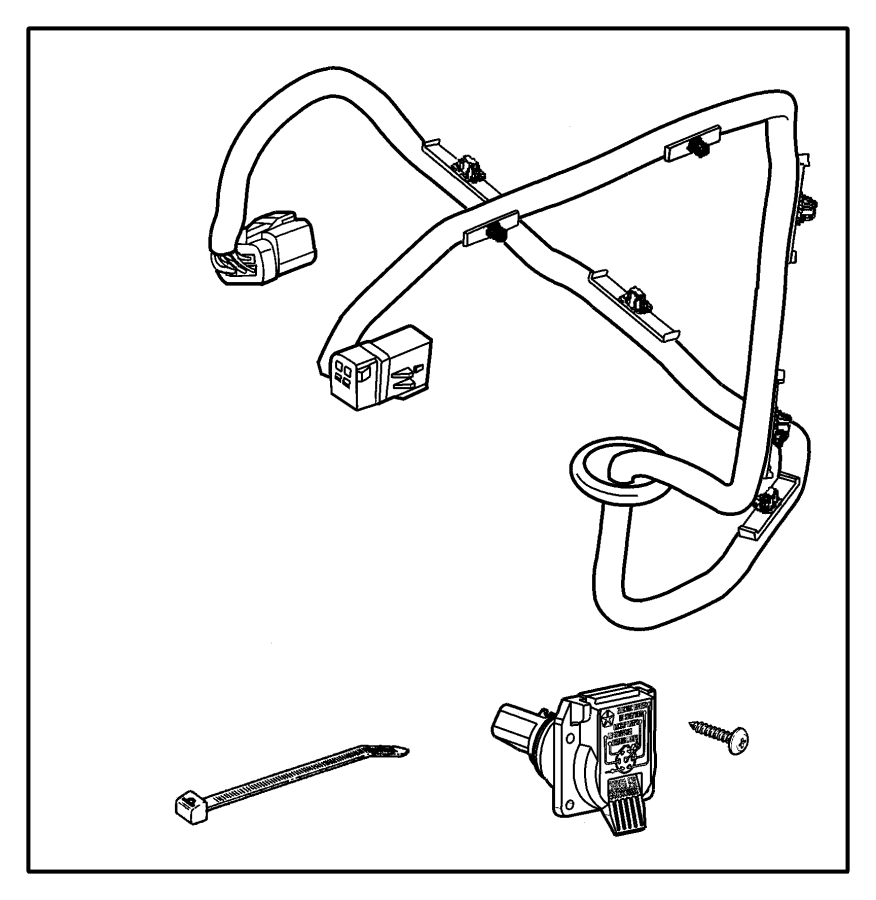 Rectangle Trailer Wiring Harness Chrysler Just Wirings Diagram 82206958 Tow 200 Speedometer