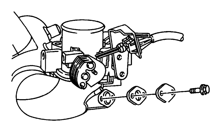 2001 chrysler sebring gasket egr tube flange  2 7l v6