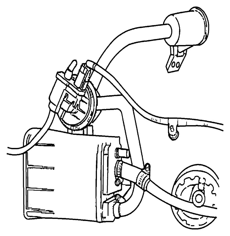 2005 chrysler 300 filter  leak detection pump  nam