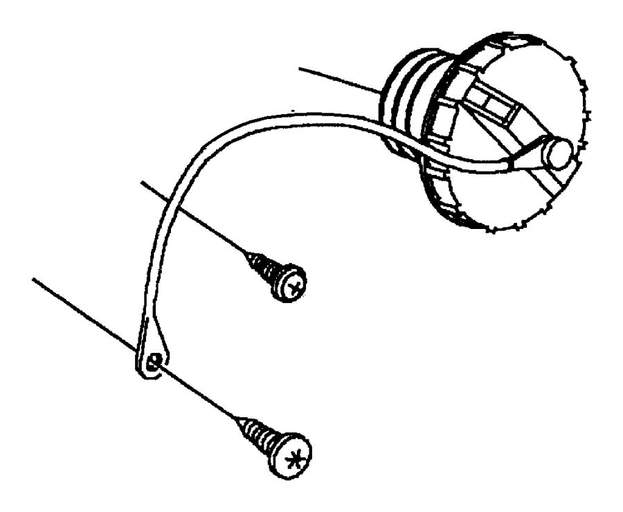 2007 chrysler pacifica tether  fuel filler cap