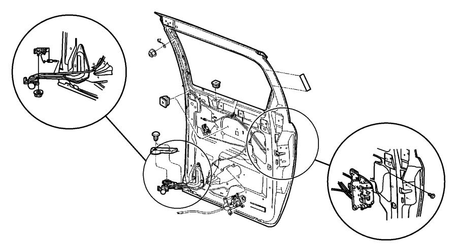 2007 Dodge Grand Caravan Hinge Left Liftgate Panel Manual Guide