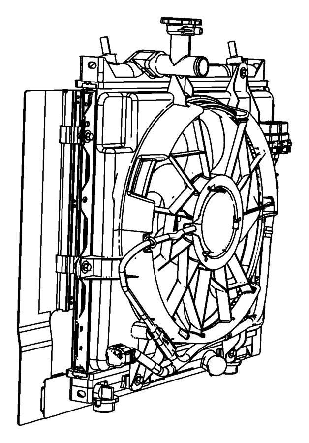 2006 Chrysler Pt Cruiser Fan Module  Radiator Cooling
