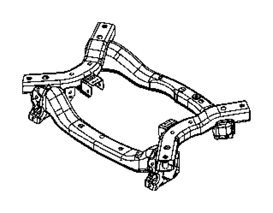 2016 chrysler 300 crossmember  front suspension  module